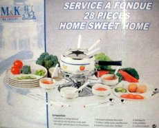 FONDUE-SET HOME SWEET HOME